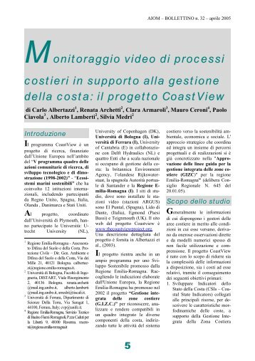 Monitoraggio video di processi costieri in supporto alla ... - Ambiente