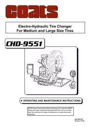 Coats CHD-9551 HD Tire Changer - NY Tech Supply