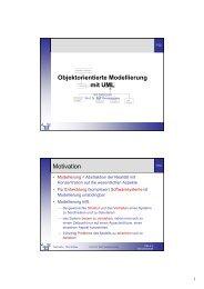 Objektorientierte Modellierung mit UML Motivation - Telematik TH ...