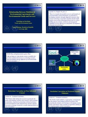 MEAs and EGS - Santo Domingo - UNEP-UNCTAD CBTF, Capacity ...