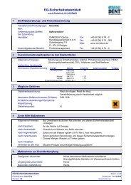 EG-Sicherheitsdatenblatt - DE