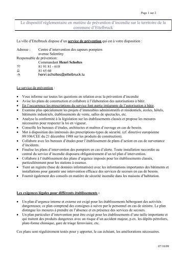 Procédure Commodo et Incommodo - Ettelbruck