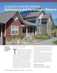 Delinquency and Foreclosure Rates in Community