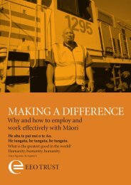 Making a Difference - Equal Employment Opportunities Trust