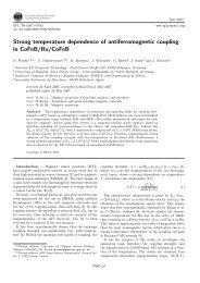 Strong temperature dependence of antiferromagnetic coupling in ...