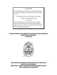 panduan seleksi calon direktur utama pdam tirta ... - Gunungkidul