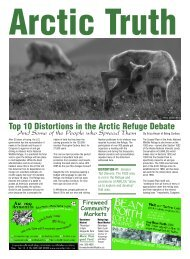 An Arctic Refuge Fact Sheet - Being Caribou Journey