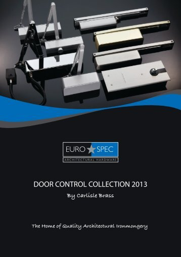 DOOR CONTROL COLLECTION 2013 - Architectural Hardware Direct