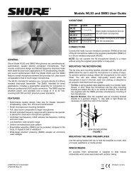Shure WL93 User Guide - zZounds.com