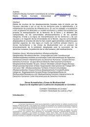 Zonas Humanitarias y Zonas de Biodiversidad: - IEPALA