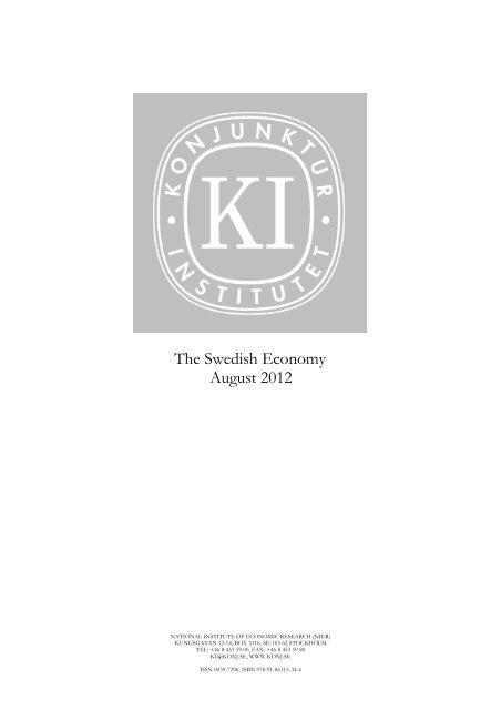 The Swedish Economy August 2012