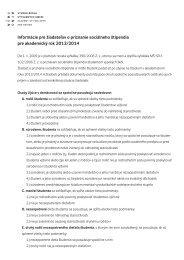 Informácie pre žiadateľov o sociálne štipendium