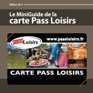 La carte - Pass Loisirs