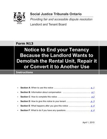 ontario notice of rent increase notice of rent increase form n1 landlord 664