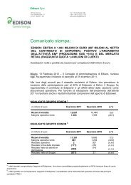 Comunicato stampa 13 febbraio 2012 Edison: EBITDA a 1.003 ...