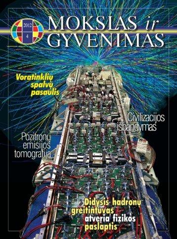 Mokslas ir gyvenimas 2012 Nr. 4 1 - Vilniaus universitetas