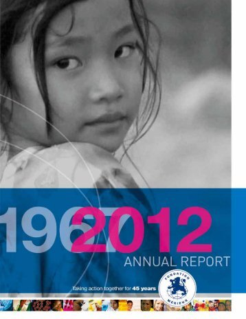 Download the annual report 20123.4 Mb pdf - Fondation Mérieux
