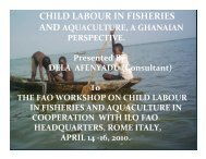 CHILD LABOUR IN FISHERIES