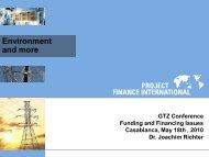 Dr. Richter Project Finance International