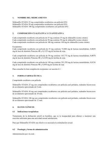 1. NOMBRE DEL MEDICAMENTO Sildenafilo STADA 25 mg ...