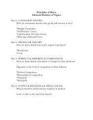 Informal topic outlines