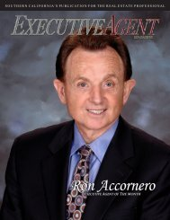 Ron Accornero - Executive Agent Magazine