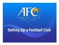 Setting Up a Football Club - AFC