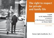 The right to respect for private and family life - Cour Européenne des ...