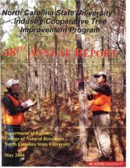 Annual Report 48, published in 2004 - Tree Improvement Program