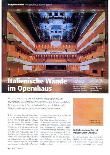 die Mappe 5/1998 - Malerwerkstätte Rainer Becker