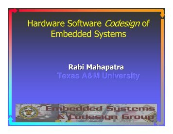 Hardware Software Codesignof Embedded Systems - CS Course ...