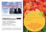 Programm Volkshochschule - VHS Schenefeld