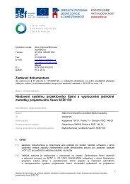Zadávací dokumentace Nastavení systému projektového řízení a ...