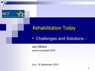 Challenges and Solutions - internationaler reha kongress 2010