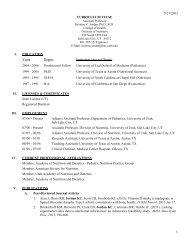 Current CV - College of Health - University of Utah