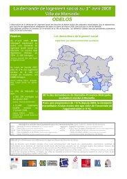 La demande de logement social au 1er avril 2008 Ville de Marseille