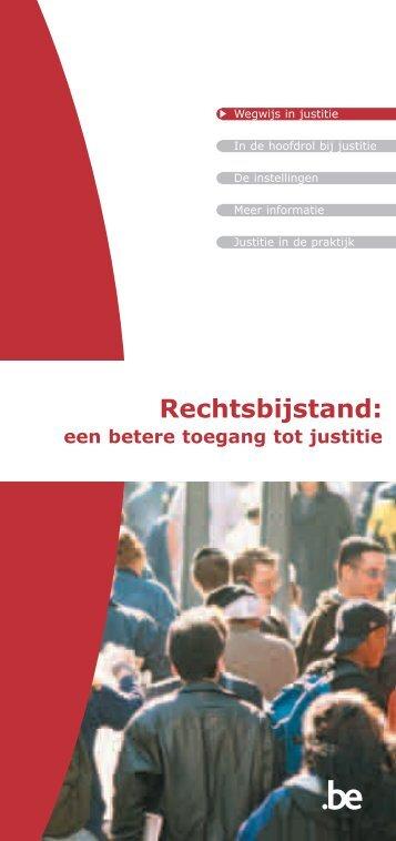 Rechtsbijstand: een betere toegang tot justitie - Jeugdrecht.be