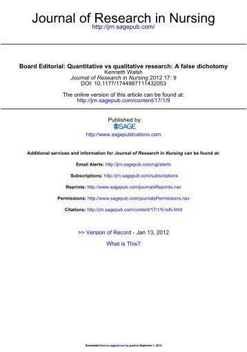 qualitative research critique part 1