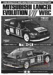 Tamiya TB-01 Mitsubishi Lancer Manual - CompetitionX.com