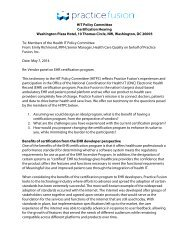 CertHrg_PracticeFusion_Testimony_2014-05-07