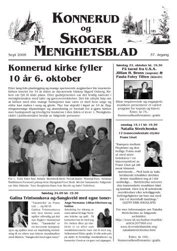 Menighetsblad nr 3/06 - Den norske kirke i Drammen
