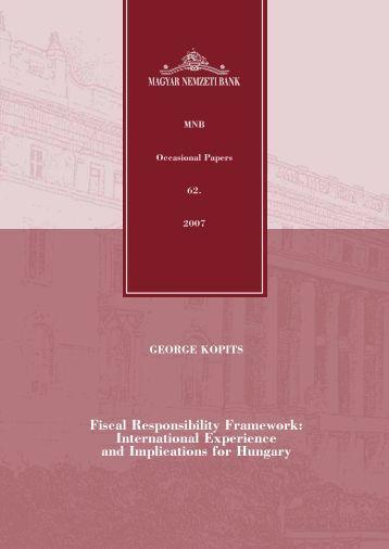 Fiscal Responsibility Framework - Magyar Nemzeti Bank