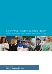 1 - Chartered London Teacher Status