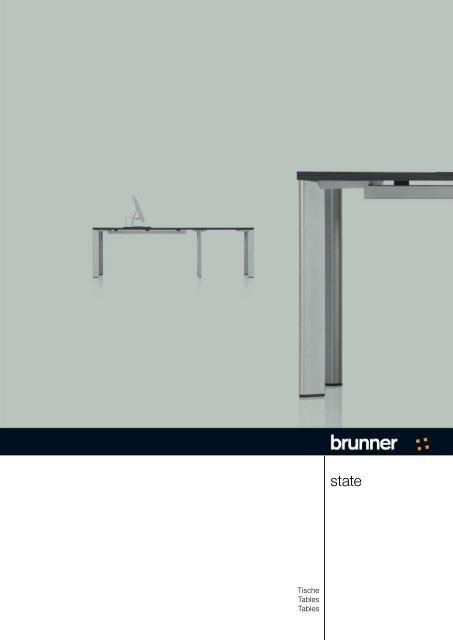 Tische Tables Tables Brunner Group