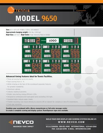 Download Product Specs - Nevco