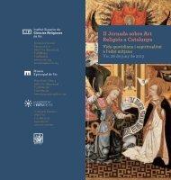 II Jornada sobre Art Religiós a Catalunya - Facultat de Teologia de ...