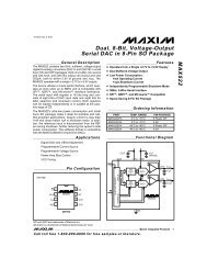 MAX522 Dual, 8-Bit, Voltage-Output Serial DAC in 8-Pin ... - Crystal