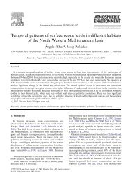 Temporal patterns of surface ozone levels in different ... - CREAF