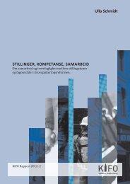 Stillinger, kompetanse, samarbeid - Stiftelsen Kirkeforskning KIFO