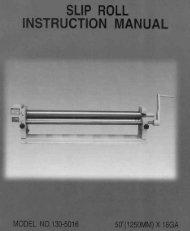 SLIP ROLL INSTRUCTION MANUAL - Enco